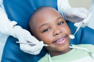 little boy visiting children's dentist in Virginia Beach