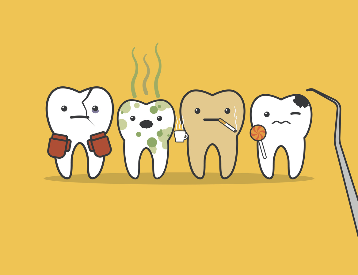 White tooth hole Cavities/tooth decay
